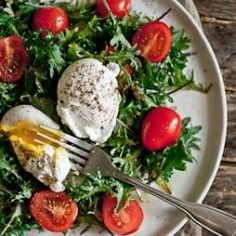 Breakfast Salad with Poached Egg - I've tried this whole breakfast salad idea, and it's a keeper! ;-)