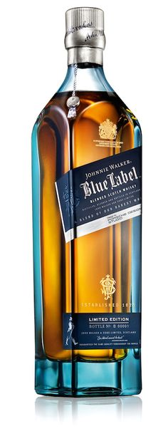 Johnnie Walker has unveiled its annual Blue Label 2015 Limited Edition. This exquisitely designed bottle invites whisky lovers to embark on a journey into the depths of the Blue Label's rare craft, cask and character. Good Whiskey, Cigars And Whiskey, Whiskey Drinks, Scotch Whiskey, Whiskey Bottle, Wine And Liquor, Liquor Bottles, Wine And Beer, Alcohol Bottles