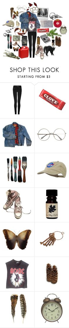 """""""Au Natural"""" by causingpanicatthetheater on Polyvore featuring Barbara Bui, mel, Wrangler, Chanel, Converse, Vintage and Dot & Bo"""