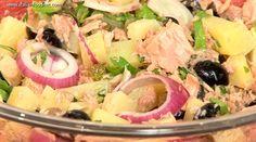 poza salata de ton si cartofi Hot Dogs, Sushi, Omega 3, Potato Salad, Potatoes, Ethnic Recipes, Food, Salads, Potato
