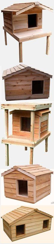 insulated Canadian cedar outside cat house - #outdoorcathouse #outsidecathouse #catoutsidehouse #cat #outdoor #outside #house www.catbedandtoy.com