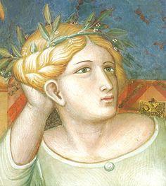Ambrogio Lorenzetti - la Pace, particolare (Allegoria del Buon Governo) - affresco - 1338-1339 - Siena - Palazzo Pubblico, Sala dei Nove o Sala della Pace