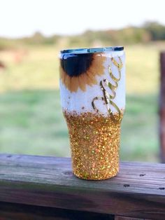 Excited to share this item from my shop: Sunflower Glitter Tumbler// Christmas // Christmas Gifts Vinyl Tumblers, Personalized Tumblers, Custom Tumblers, Glitter Cups, Glitter Tumblers, Glitter Room, Glitter Hair, Pink Glitter, Tumblr Cup