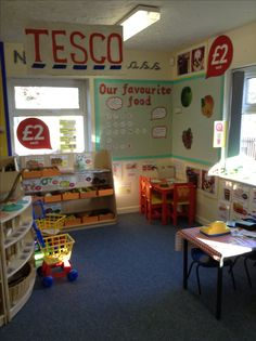 Another on of my role play Tesco, complete with authentic Tesco signage!