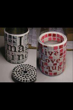 Mosaikdåser til pynt og opbevaring
