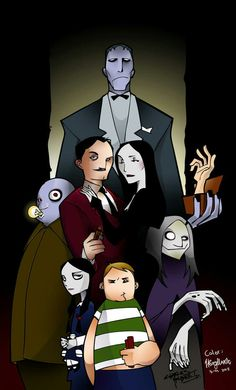 Addams family by Blazingwire on DeviantArt Addams Family Cartoon, Addams Family Tv Show, Adams Family, Halloween Horror, Halloween Fun, Cartoon Familie, Scary Shows, Family Meme, Fantasy Tv Series