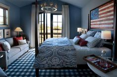 Top 10 red, white, and blue rooms