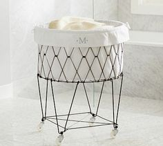 French Wire Hamper  Liner #potterybarn