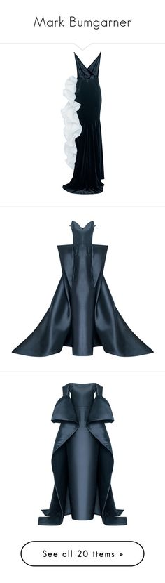 """Mark Bumgarner"" by mari-sv ❤ liked on Polyvore featuring dresses, gowns, v neckline dress, blue wrap dress, v neck dress, v-neck dresses, wrap dress, black, plunge-neck dresses and structured dress"