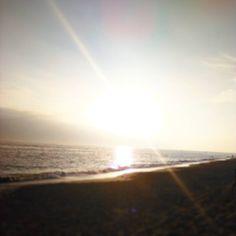 Ficar na praia até tarde  #praia #sunset #pordosol #tarde #areia #beach #water #sea
