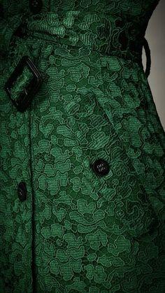 green.quenalbertini: Green Burberry Coat
