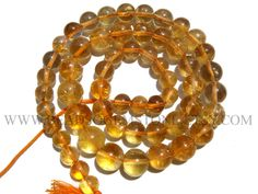 Citrine Smooth Round (Quality AA) / 5.5 to 8 mm / 36 cm / CI-325 by beadsogemstone on Etsy