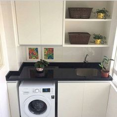 Home Kitchen Decor Laundry Rooms 23 Super Ideas Laundry Decor, Laundry Room Design, Laundry In Bathroom, Laundry Rooms, Apartment Closet Organization, Kitchen Organization, Organization Ideas, Kitchen Decor, Kitchen Design
