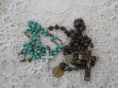 Broken rosary x 2 destash by Nkempantiques on Etsy