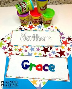 Name Tracing worksheets and Activities for Preschool - Editable Name Playdough Mats #preschoolworksheets #nameworksheets #preschoolprintables #nametracing #backtoschool #planningplaytime Name Activities Preschool, Numbers Preschool, Toddler Learning Activities, Preschool Worksheets, Back To School Worksheets, Name Tracing Worksheets, Alphabet Letter Crafts, Environmental Print, Picture Cards