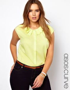 ASOS CURVE Blouse With Origami Collar on shopstyle.com
