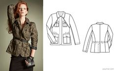 Burda jacket 105, october 2013 I absolutely need to make it!
