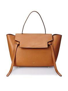 Celine Women's Small Belt Bag in Calf, Tan