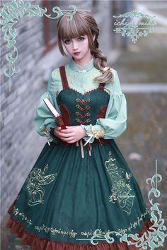 –> Today's Highlight: IchigoMiko ♪♫❤♩♬~The Song Of The Wood Elves~♪♫❤♩♬ Series –> Top quality EMBROIDERY Lolita corset JSK and blouse you will surely love –> Learn More >>> http://www.my-lolita-dress.com/newly-added-lolita-items-this-week/the-song-of-the-wood-elves-series