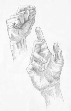 Croquis de main au crayon 2016 - Olivier Debaisieux