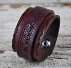 Adamas Leather Cuff Bracelet by Northernleather on Etsy, $38.95
