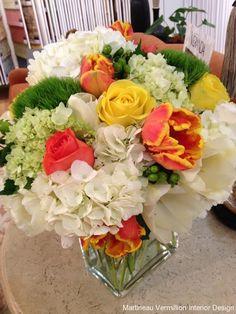 Floral Design via   Amy Martineau Vermillion Interior Design Charlotte NC