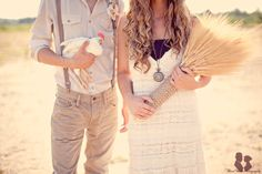 Vintage Theme Engagement | Three Nails Photography