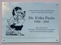 Erikafuchsgedenkplakette - Erika Fuchs – Wikipedia