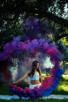 Smoke grenade circle | Smoke bomb | purple Smoke | Smoke Portrait