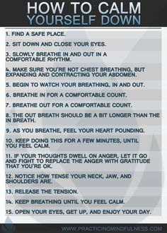 How to calm yourself down. #mindfulness #calmdown #mindfulnesstechniques