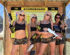 What's the score today? Come on girls, you are in the way and we can see the results! #PaintballTournament