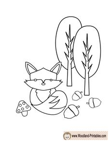 Cute Fox Coloring Page Animal PagesCute FoxWoodland