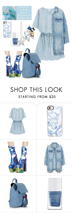 """grunge blue"" by theminimalist01 ❤ liked on Polyvore featuring Casetify, Current Mood, LE3NO, The Hand & Foot Spa and design *by Imre Bergmann"