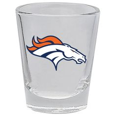 Broncos Bottoms Up Cordial Glass | Denver Broncos, Broncos and Denver