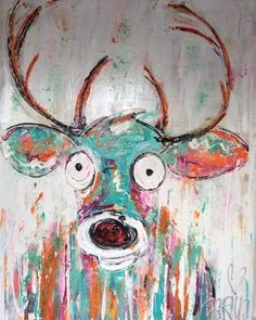 kunst modern abstract kleurrijk vrolijk schilderij Carinart