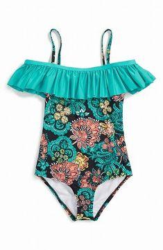 ceef7f0687eb6 kids swimwear · (eBay Sponsored) Splendid NEW Blue Girl's Size 10 Floral  Ruffle One-Piece Swimsuit