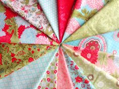 Pink, blue, green combinations Cotton Way