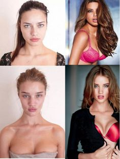 Perception of Perfection.  A look at V.S. models before anything applied. They're still beautiful either way.