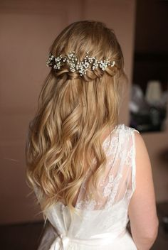 Waterfall Braid Half Up Half Down Hairstyle