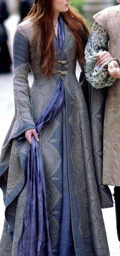 Game of Thrones - Sansa Stark's dress.  Lovely look about it.