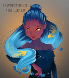 challenge oc Draw This In Your Style Challenge : DestinyBlue by Roelette on DeviantArt Art Challenge, Drawing Challenge, Inspiration Art, Art Inspo, Character Inspiration, Fantasy Kunst, Fantasy Art, Art Du Croquis, Art Mignon