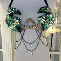 "peacock beauty samba bra ☄☄ Order now for EDCLV, EDCNY, Mysteryland, Something Wonderful, SMF and all other spring festivals - email seagypsycouture@gmail.com for our order form! •  turn on post notifications to make sure you see all of our latest styles! Just click the three dots (•••) below this pic and select ""turn on post notifications""  ✨✨ for custom orders: email seagypsycouture@gmail.com ✨✨ for premade bras & outfits: etsy link in bio ✨✨ follow us on Facebook: www.faceboo..."