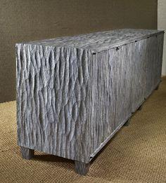 Detail of adzed finish to oak cabinet Cabinet Furniture, Sofa Furniture, Furniture Design, Colorful Furniture, Unique Furniture, Rustic Wooden Shelves, Lampe Art Deco, Reclaimed Furniture, Butcher Block Countertops
