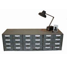 Industrial Metal Storage  by Mais Jamais via uncovet