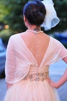 Stunning back interest - love this dress
