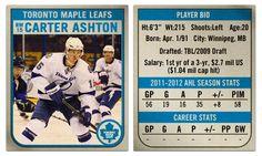 Carter Ashton hockey card
