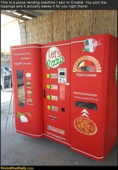 We all NEED Pizza Vending Machines!