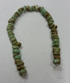 """Magnesite Stone Chip - Moss Green - Small Chips - 7.5"""" Long Strand - Free Shipping by GailsGiftHut on Etsy"""
