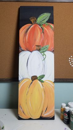 Fall Canvas Painting, Autumn Painting, Autumn Art, Fall Halloween, Halloween Crafts, Diy Halloween Signs, Halloween Door Decorations, Autumn Crafts, Holiday Crafts