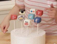 So Sexy Social Media Cake Pops - Foodista.com